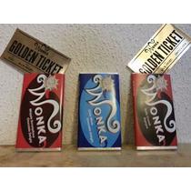 Barra De Chocolate Wonka Golden Ticket Paquete Promomix