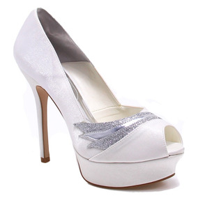 Sapato Peep Toe Laura Porto Noivas (nota Fiscal) | Zariff