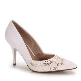 Sapato Scarpin Conforto Feminino Beira Rio - Branco