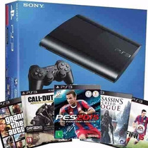 Playstation 3 Ps3 500gb Com 65 Jogos