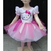 Disfraz Vestido Estilo Hello Kitty De Lujo Con Accesorios