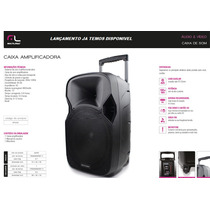 Caixa De Som Recarregável Amplificada Microfone E Bluetooth