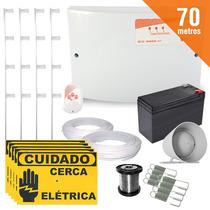 Kit Cerca Elétrica 70 Metros Completo Setor Alarme Gcp
