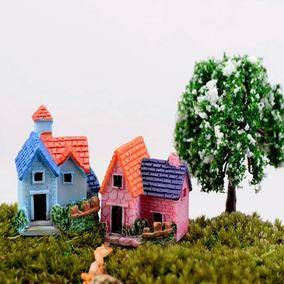 Mini Castelo Para Mini Jardim Kit Com 10 Unidades