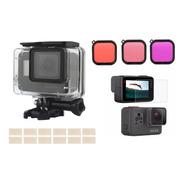 Kit Carcasa Sumergible Para Gopro + Filtros Colores + Mica