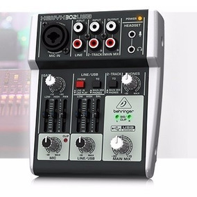 Mesa De Som Behringer Xenyx 302 Usb Mixer Interface De Áudio
