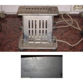 Antigua Tostadora Y Calentador Retro Genalex Acero Funciona