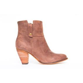 Botas Botitas Mujer Calzado Zapatos Invierno Taco Bajo Cuero