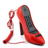 Aparelho De Telefone Fixo Mesa Formato Sapato Feminino