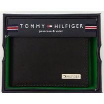 Carteira Masculina Em Couro Tommy Hilfiger Symbol Preta