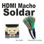Zchh19 Conector Para Soldar A Cable Hdmi Macho Computoys