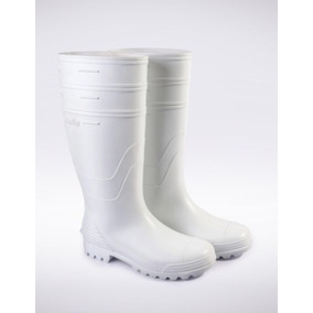 Bota Pvc Ditta Flex Color Blanco O Negro
