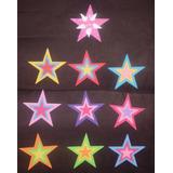 Circulos Corazones Estrellas Mariposas Flores En Foami