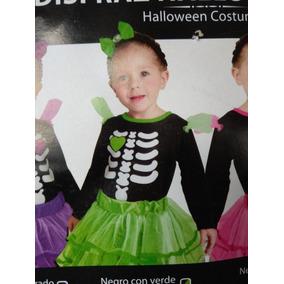 Halloween Disfraz Calavera Niña Varios Colores