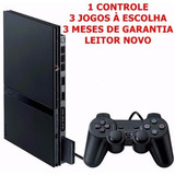 Playstation 2 Completo Com Leitor Novo E 3 Meses De Garantia