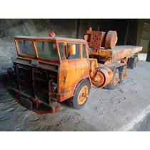 Camión Antiguo Lamina Y Plástico. Vintage . Tráiler Custom.