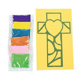 Figura Crafty Capers 12 Christian Cross Sand Art Kits Fo 490