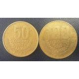 Costa Rica Duo De Monedas De 50 Y 100 Colones Año 1999