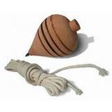 Pião Madeira Brinquedo Cordão Fieira Jogos Presentes Criança
