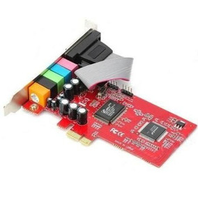 Placa De Som 5.1 Surround - Pci-express 1 X 6 Canais