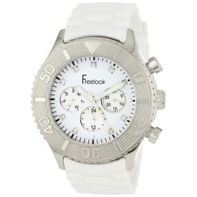 Freelook Hombres De Ha Blanco Chrono Esfera Blanca Reloj