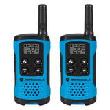 Rádio Comunicador Motorola Talkabout 25km T100br Azul