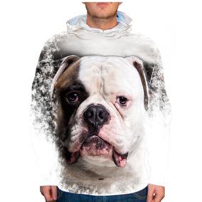Blusão Cachorro Bulldog Americano Unissex Com Capuz