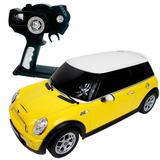 Carrinho Controle Remoto Mini Cooper 7 Funções 1/14 Amarelo