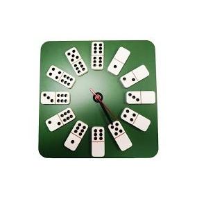 Relógio Mdf - Dominó C/ Sobreposição
