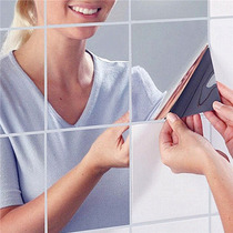 Espelhos Adesivos De Parede 3d Decal Mosaico 9 Pçs