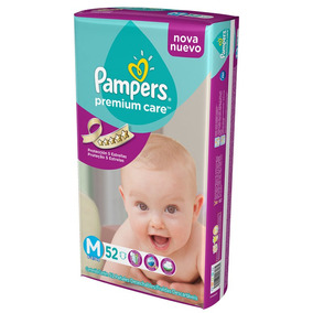 Pañales Pampers Premium Care M 6-9,5kg X 52 U.