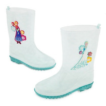 Botas De Lluvia Anna Y Elsa Frozen Disney Talla 29