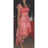 Vestido De 15 Años Romántico Color Rosa Salmón, Impecable.