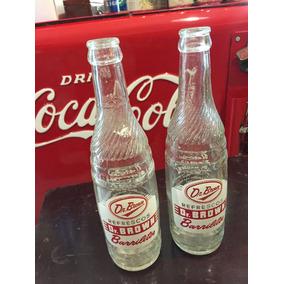 Par De Botellas De Refresco Dr. Brown Barrilitos Antigua