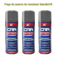 3 Car 80 Contato Spray Limpa Contato Elétrico E Eletrônico