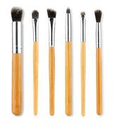 Set 6 Brochas Maquillaje Bambú - Unidad a $1108