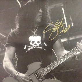 Poster Autografado Slash Guns N´ Roses