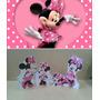 Kit Display De Chão Minnie Rosa 8 Peças + Painel 2,00x1,40mt