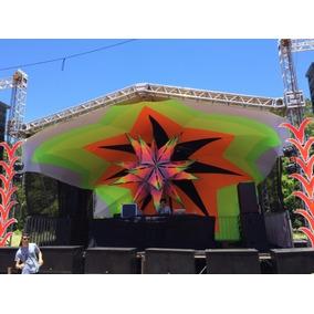 Tecido Lycra Tensionada Decoração Tendas De Festas Raves
