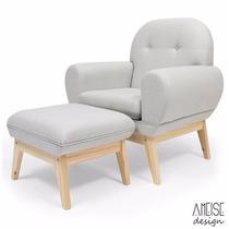Cadeira De Mamar Amamentação - Madeira Revestimento Em Linho