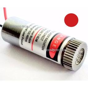 Módulo Laser Ponto Foco Ajustável Lente Vidro 650nm 5mw