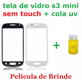Tela Vidro Lente Galaxy S3 Mini (i8190) + Cola Uv Original