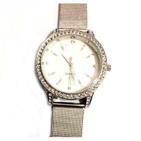 Envío Gratis Reloj Elegante Acero Tipo Rolx Brillantes R14