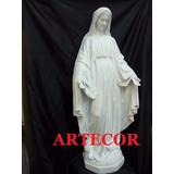 Virgen Medalla Milagrosa, Cemento,85 Cm. Estatua De Jardin