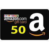 Amazon Gift Card Tarjeta Con Saldo Prepago Valor Usd 50