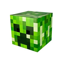 Disfraz Cabeza Minecraft Creeper Niño Halloween