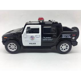 Miniatura De Metal Hummer Da Polícia Ano 2005 Escala 1: 40