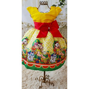 Vestido Magali Temático Festa Aniversario