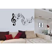 Adesivo Decorativo Musica Notas Musicais Claves Papel Parede