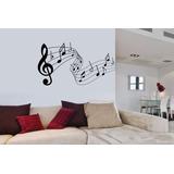 Adesivo Decorativo Musica Notas Musicais Claves Parede Sol